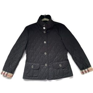 Burberry Women's Diamond Quilted Black Jacket M
